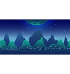 Blue planet game background vector
