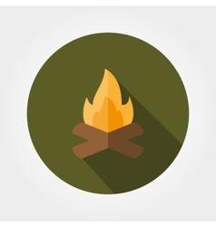 Campfire icon flat vector