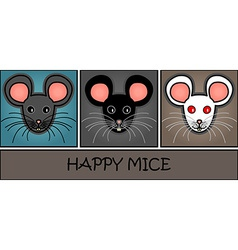 Cartoon mice header vector
