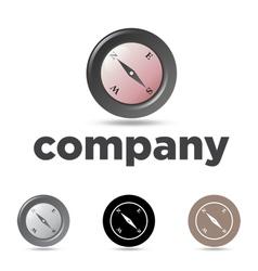 Compass emblem vector