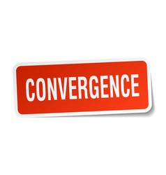 Convergence square sticker on white vector
