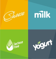 Dairy products logo designs vector image vector image