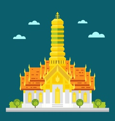Fabulous temple of thailand flat design vector
