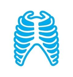 Flat icon on white background human rib vector