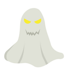 ghost flat icon halloween and scary horror sign vector image vector image