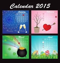 Holiday Calendar of 2015 vector image