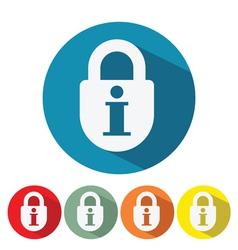 Information security web icon flat design vector
