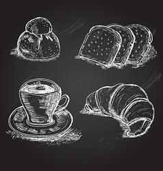 italian breakfast elements vector image
