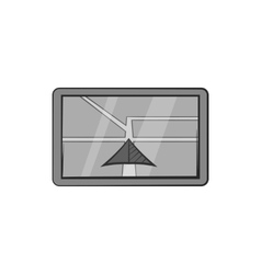JPS on tablet icon black monochrome style vector image vector image
