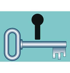 Key and hole vector image