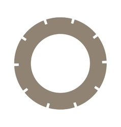 Light brown silhouette washer of security vector