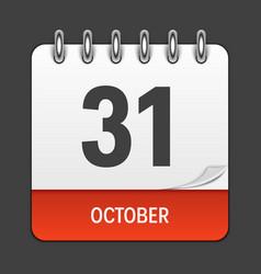 october 31 calendar daily icon vector image