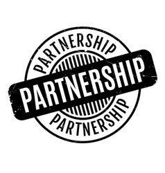 Partnership rubber stamp vector
