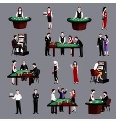 People in casino vector