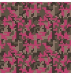 Pixel camo seamless pattern fashion pink trendy vector
