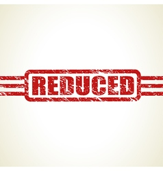 reduced stamp vector image