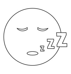 sleep smile icon thin line vector image