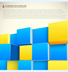 Structure from cubes business background vector