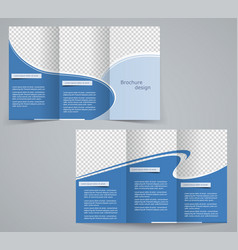 Three fold business brochure template vector