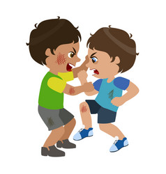 Two boys fighting and scratching part of bad kids vector