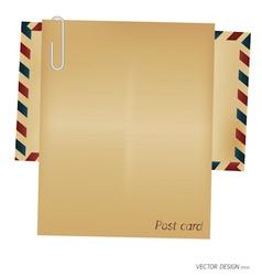 Vintage envelope blank paper vector image