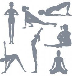 yoga postures royalty free vector image  vectorstock