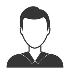 Young male profile in black and white colors vector image vector image