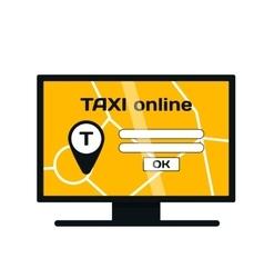 Taxi online website vector image