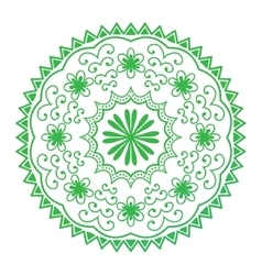 Mehendy mandala flower vector image