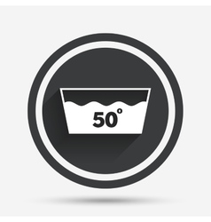 Wash icon machine washable at 50 degrees symbol vector