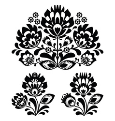 Folk embroidery - floral traditional pattern vector image