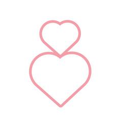 pink hearts romantic decoration vector image
