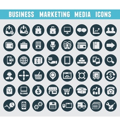 Set of business and marketing icons vector image