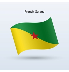 French guiana flag waving form vector