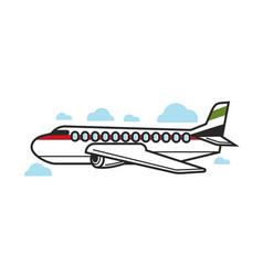 Big jet in sky vector
