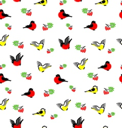 Winter birds pattern vector