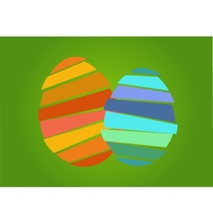 Two nice easter egg vector