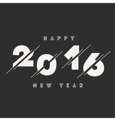 Happy new year 2016 abstract card text vector