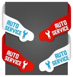 left and right side signs - auto service vector image