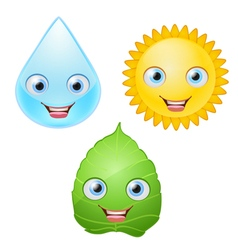 Icons smiling vector