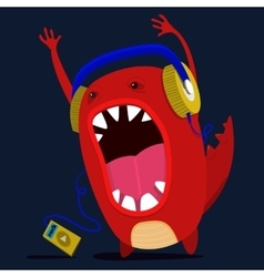 cute monster graphic vector image