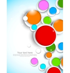 Colorful circles vector image vector image