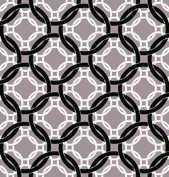 Connected circles seamless pattern retro style vector