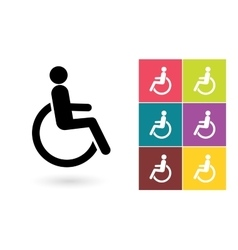 Disabled icon or disabled handicap symbol vector