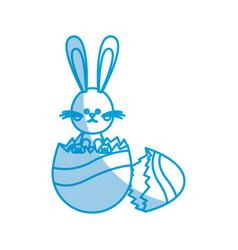 Easter bunny egg broken celebration party spring vector