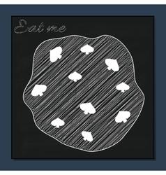 Eat Me Cookie from Alice Adventures in Wonderland vector image