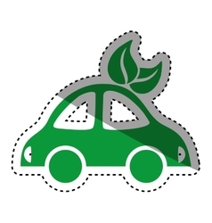 Electric car symbol vector