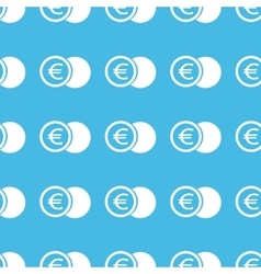 Euro coin straight pattern vector