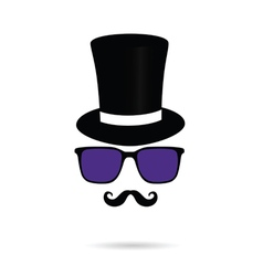 Face with mustache and sunglasses vector