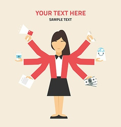 Flat design concept of businessman management or vector image vector image